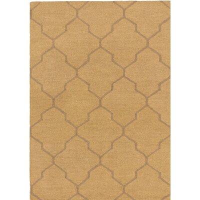 Trellis Wool Handmade Brown/Camel Area Rug