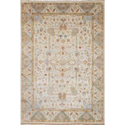 Anston Wool Hand-Knotted Cream Area Rug