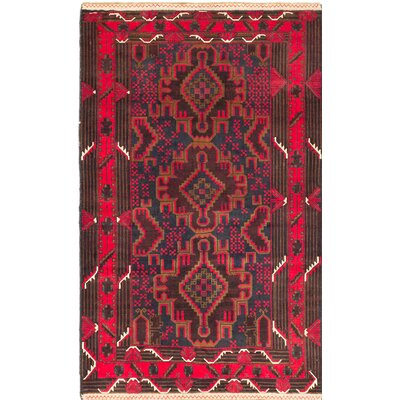 One-of-a-Kind Khandahar Finest Wool Hand-Knotted Brown/Red Area Rug