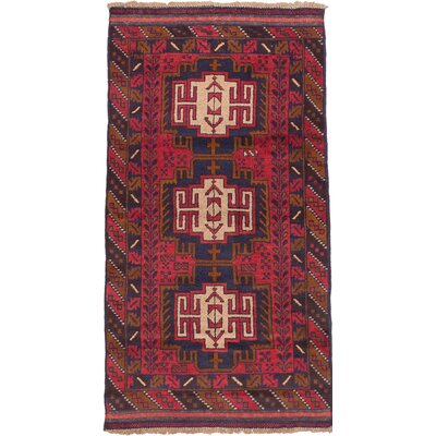 Kazak Wool Hand-Knotted Red Area Rug