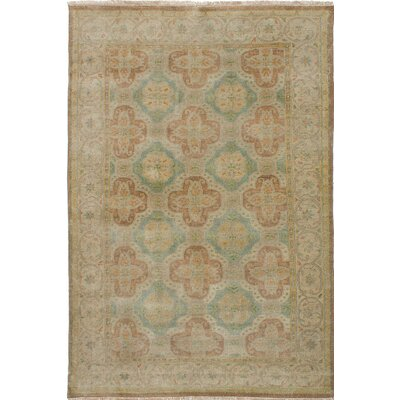 One-of-a-Kind Bassford Wool Hand-Knotted Light Khaki Area Rug