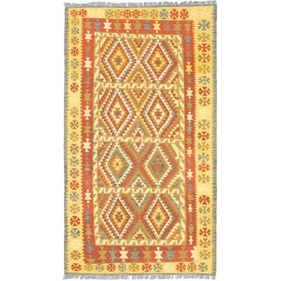 Anatolian Kilim Wool Hand Woven Dark Copper Area Rug