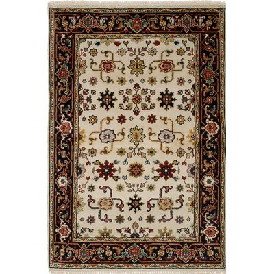 One-of-a-Kind Baldry Wool Hand-Knotted Cream Area Rug