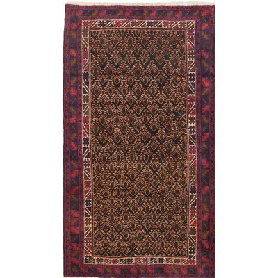 One-of-a-Kind Herati Wool Hand-Knotted Black/Brown Area Rug