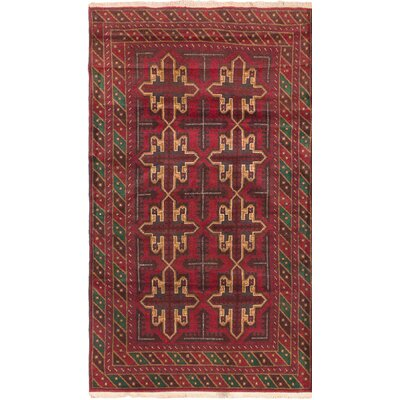 Royal Balouch Wool Hand-Knotted Red Area Rug