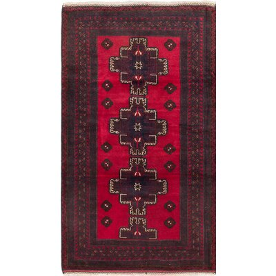 One-of-a-Kind Royal Balouch Wool Hand-Knotted Red Area Rug
