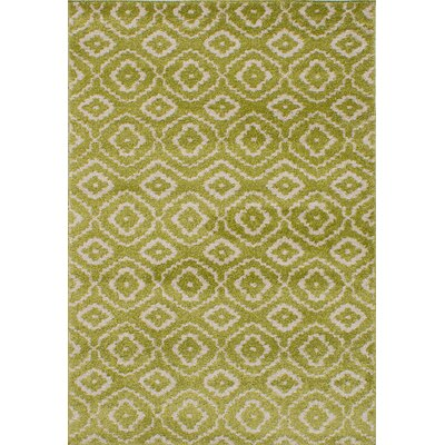 La Morocco Shag Light Green/Beige Area Rug Rug SIze: 52 x 75