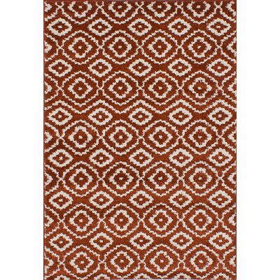 Manuel Shag Dark Copper Area Rug Rug Size: 52 x 75