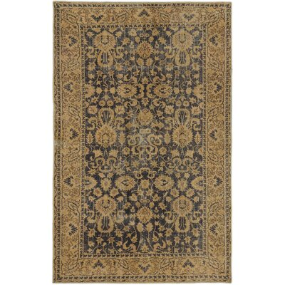 One-of-a-Kind Olsen Hand-Knotted Dark Navy/Ivory Area Rug