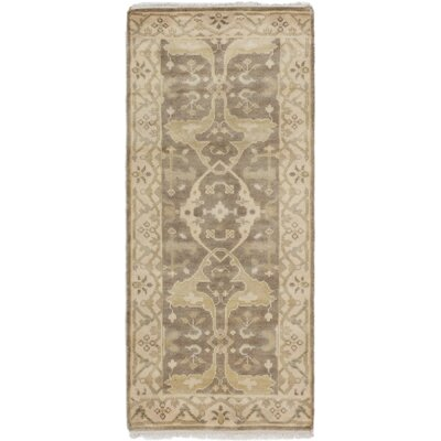 Li Hand-Knotted Brown Area Rug