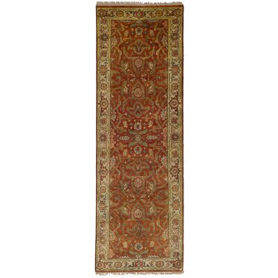Runell Hand-Knotted Dark Copper Area Rug