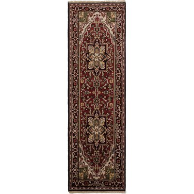 Bovell Hand-Knotted Red Area Rug