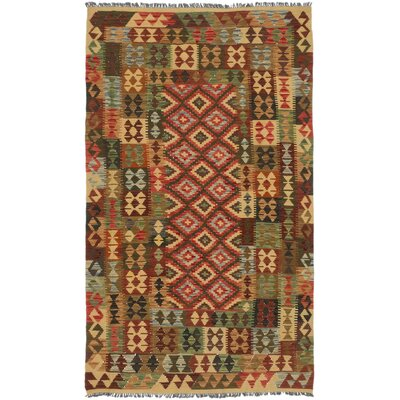 Oliver Hand-Woven Dark Burgundy/Light Brown Area Rug