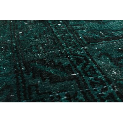 One-of-a-Kind Brookfield Hand-Knotted Dark Green Area Rug