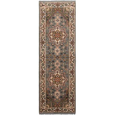 One-of-a-Kind Larsen Hand-Knotted Gray Area Rug