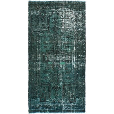 Brookfield Hand-Knotted Dark Green Area Rug