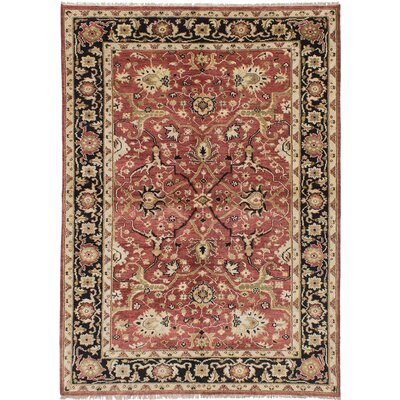 Runell Hand-Knotted Red Area Rug