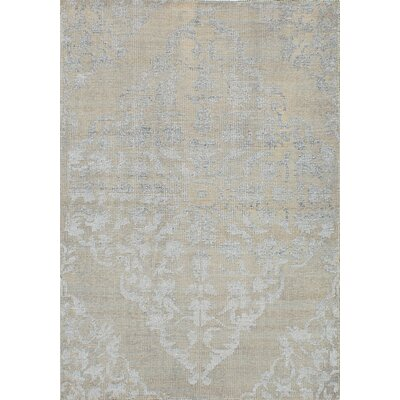 Poplin Hand-Knotted Light Gray Area Rug