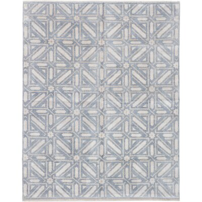 Brunell Hand-Knotted Gray Area Rug