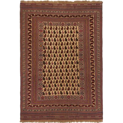 Brothwells Hand-Woven Dark Burgundy Area Rug