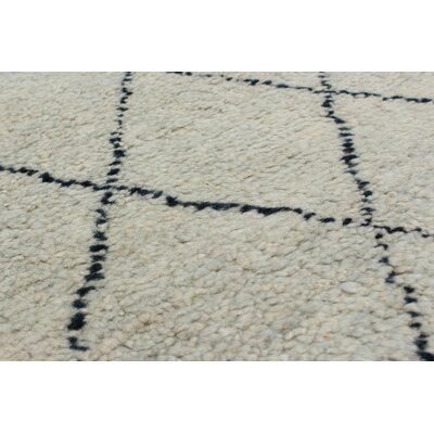 One-of-a-Kind Bridgewater Hand-Knotted Black/Gray Area Rug