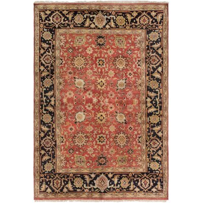 Briggs Hand-Knotted Red Wool Area Rug