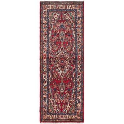 One-of-a-Kind Roth Hand-Knotted Runner Red Area Rug