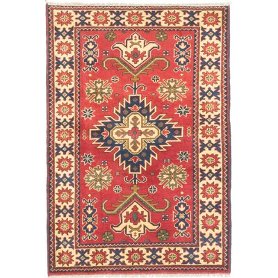 One-of-a-Kind Bunkerville Hand-Knotted Dark Red/Light Gold Area Rug