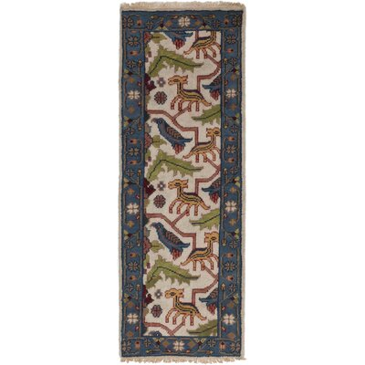 Larsen Hand-Knotted Runner Cream Area Rug