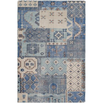 One-of-a-Kind Brewster Hand-Knotted Blue Area Rug