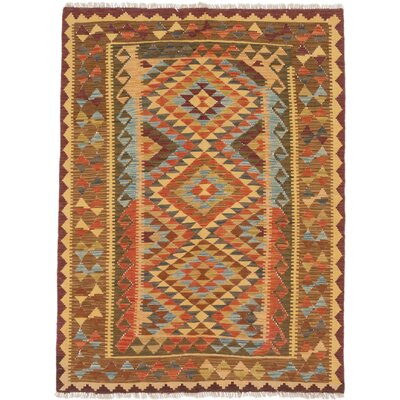 Breanne Hand-Woven Copper/Light Gold Area Rug