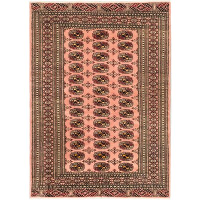 One-of-a-Kind Hess Hand-Knotted Light Coral Area Rug