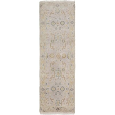 Li Traditional Hand-Knotted Light Gray Area Rug