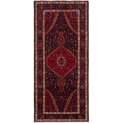 One-of-a-Kind Boultwood Hand-Knotted Dark Navy/Red Area Rug