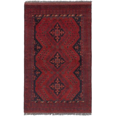 Bouldercombe Hand-Knotted Red Area Rug