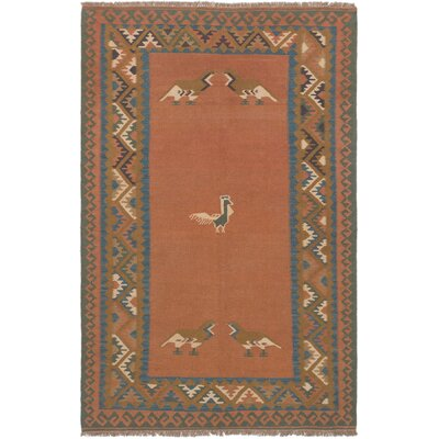 One-of-a-Kind Houston Handmade Wool Copper Area Rug