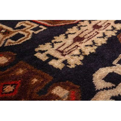 One-of-a-Kind Lin Traditional Hand-Knotted Dark Navy/Red Area Rug