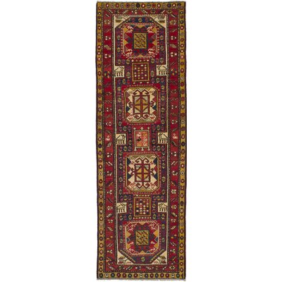 One-of-a-Kind Meyers Hand-Knotted Red Area Rug