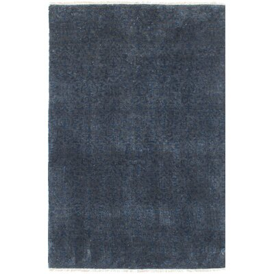 Monahan Hand-Knotted Dark Gray/Navy Blue Area Rug