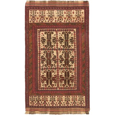 Pacheco Hand-Woven Cream/Dark Burgundy Area Rug