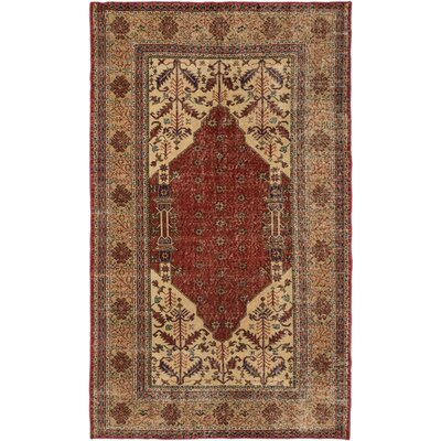 One-of-a-Kind Olsen Hand-Knotted Dark Copper Area Rug
