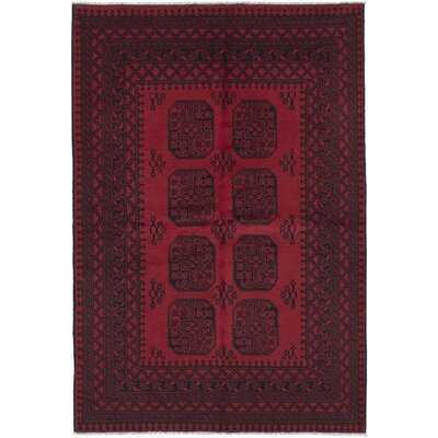 Bridges Traditional Hand-Knotted Red Area Rug