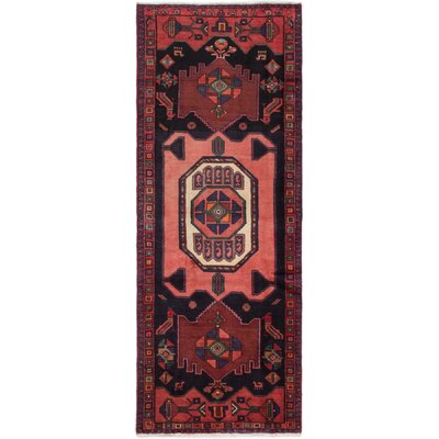 Gallegos Hand-Knotted Dark Navy Area Rug