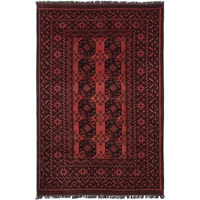 Bridges Hand-Knotted Copper/Dark Red Area Rug