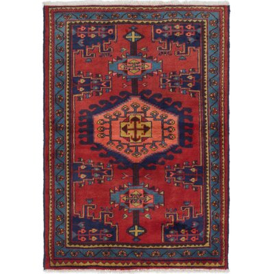 Bowenville Hand-Knotted Dark Red Area Rug