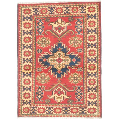 Bunkerville Hand-Knotted Dark Red/Light Gold Area Rug