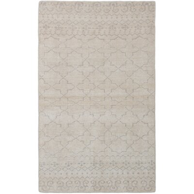 One-of-a-Kind Pontus Hand-Knotted Ivory Area Rug