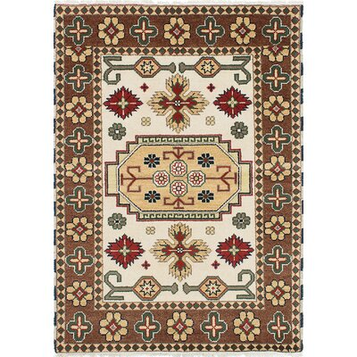 One-of-a-Kind Cyra Hand-Knotted Brown/Cream Area Rug
