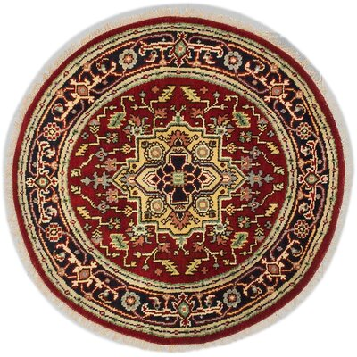 Briggs Hand-Knotted Dark Red Area Rug