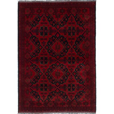 Bouldercombe Hand-Knotted Oriental Red Area Rug
